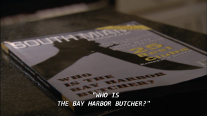 A magazine whose cover story is on the Bay Harbor Butcher.