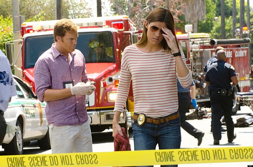 Jennifer Carpenter as Debra Morgan and Michael C. Hall as Dexter Morgan (Season 7, episode 9) - Photo: Randy Tepper/Showtime - Photo ID: dexter_709_1321