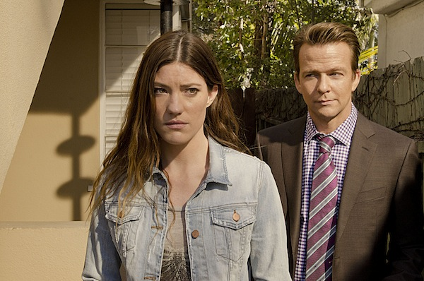 Jennifer Carpenter as Debra Morgan and Sean Patrick Flanery as Jacob Elroy in Dexter (Season 8, episode 2) - Photo: Randy Tepper/Showtime - Photo ID: Dexter_802_1175